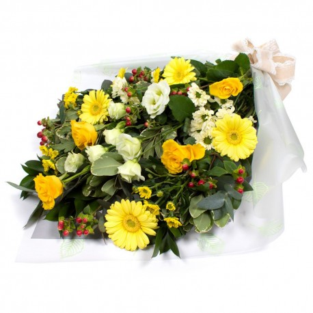 Sympathy Flowers Yellow and white SYM-334