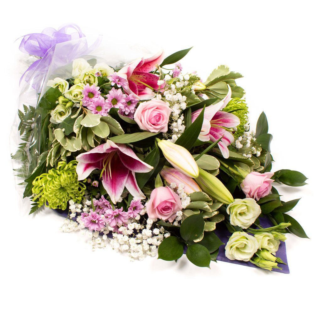 Sympathy Flowers in pink SYM-336