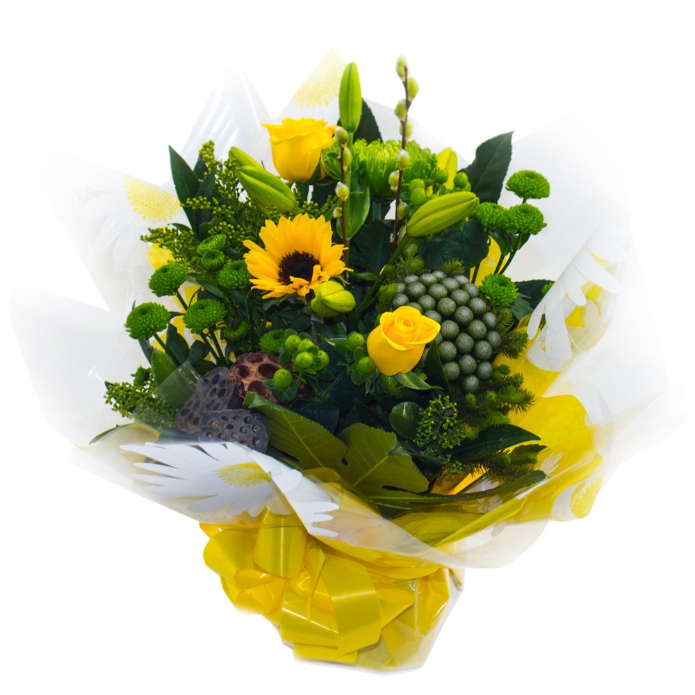 Lemon and Lime Hand Tied bouquet