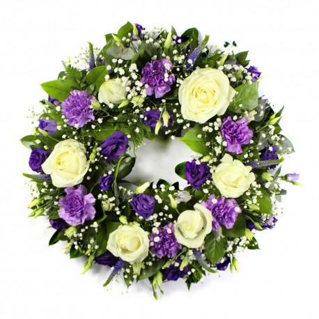 Blue ans white Wreath SYM-316