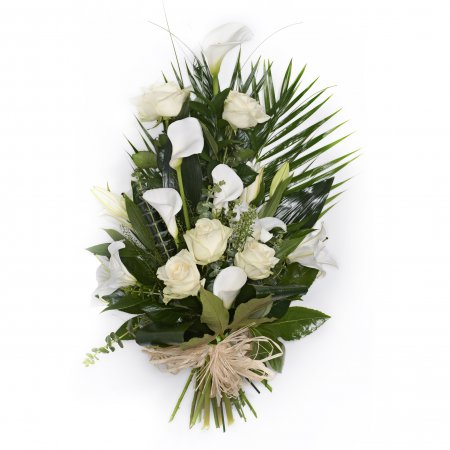 Modern Tied Sheaf in white