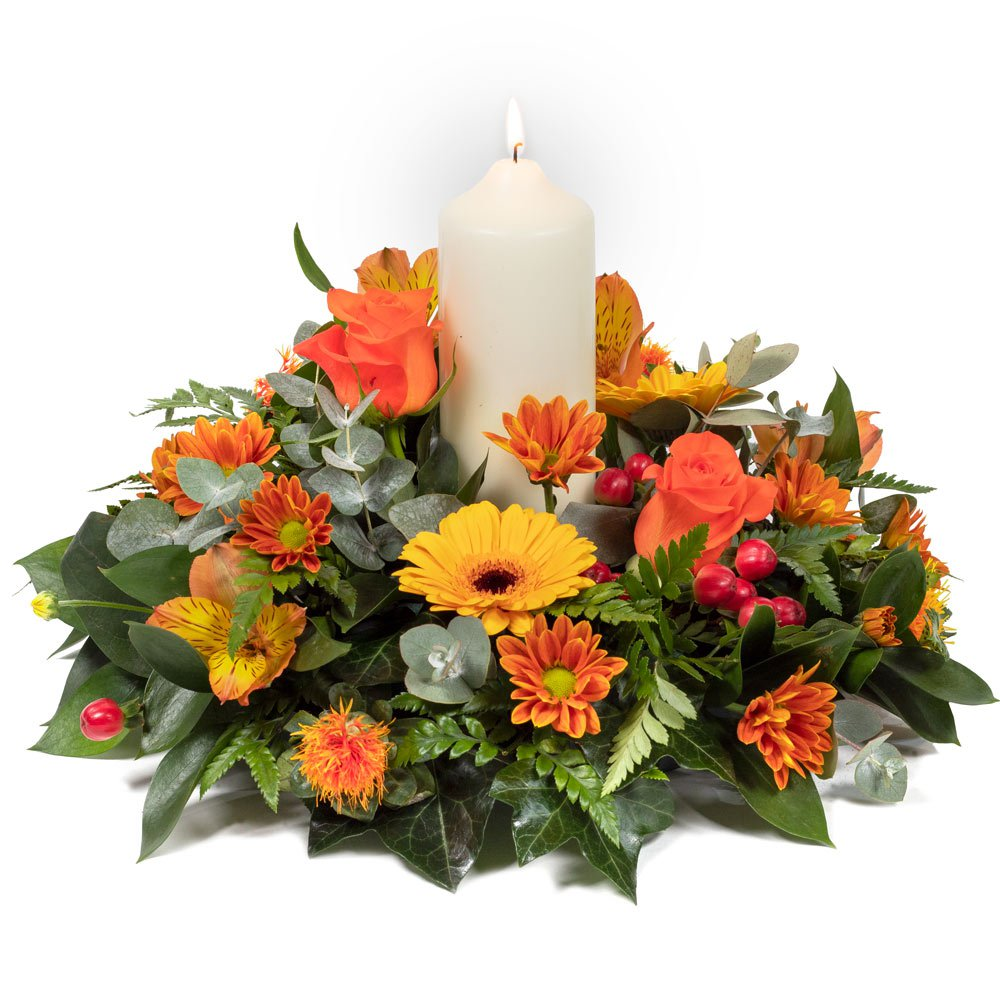 Warm Glow Candle Arrangement